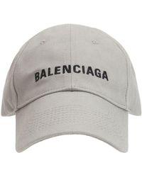 Balenciaga Baseballkappe Mit Logo - Grau