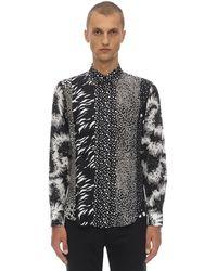 Givenchy Рубашка Из Шелка С Принтом - Черный