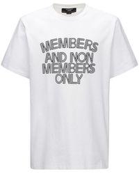 Stella McCartney Bedrucktes T-shirt Aus Baumwolle - Weiß