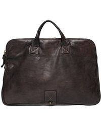 Campomaggi Vintage Effect Leather Briefcase - Brown