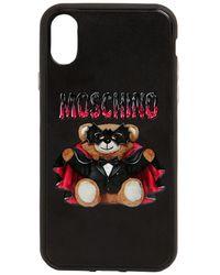 Moschino Iphone X-cover Mit Druck - Schwarz
