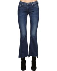 "Mother Jeans Bootcut ""The Weekender"" In Denim Di Cotone - Blu"