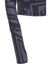 McQ Dazzele Print Jersey Rollneck Top - Blue