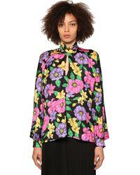 Balenciaga Блузка Из Крепа С Принтом - Многоцветный