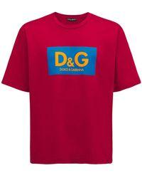Dolce & Gabbana - コットンジャージーtシャツ - Lyst