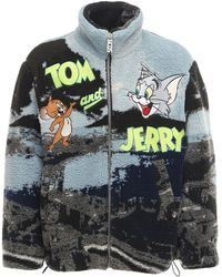 Gcds Tom & Jerry Neapolitan フリースジャケット - ブルー