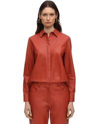 Zeynep Arcay Leather Shirt - Red