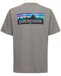 """Patagonia T-shirt """"p-6 Responsibili-tee"""" - Grau"""