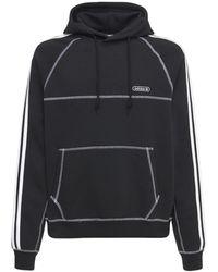 adidas Originals コットンブレンドフーディー - ブラック
