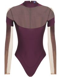 Mugler Lvr Exclusive Stretch Bodysuit - Purple