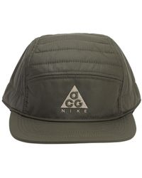 "Nike Cappello ""Aw84 Acg"" In Techno Tessuto Con Logo - Verde"