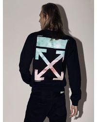 """Off-White c/o Virgil Abloh Sweat-Shirt En Coton Imprimé """"Lvr Exclusive"""" - Noir"""