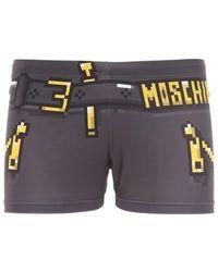 Moschino Bañador Shorts De Lycra Con Estampado - Multicolor