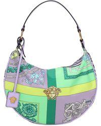 Versace Сумка Из Нейлона С Принтом - Пурпурный
