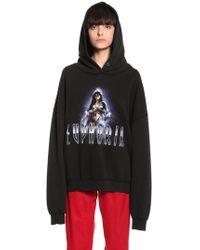 MISBHV Hooded Euphoria Cotton Blend Sweatshirt - Black