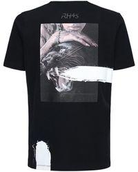 RH45 Bedrucktes T-shirt Aus Baumwolle - Schwarz