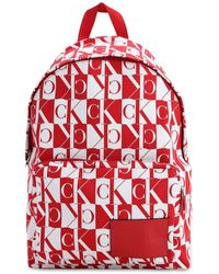 Calvin Klein Sac à dos à motif monogrammé - Rouge