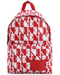 Calvin Klein Mochila con monograma - Rojo