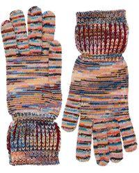 Missoni Striped Cashmere & Wool Knit Gloves - Multicolour