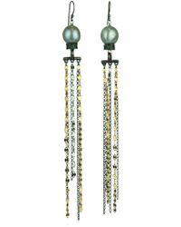 Katerina Psoma - Pearl Fringed Earrings - Lyst