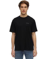 Armani Exchange コットンジャージーtシャツ - ブラック
