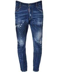 """DSquared² 17cm Jeans Aus Stretch-denim """"tidy Biker"""" - Blau"""