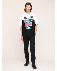 Vetements T-shirt Aus Baumwolle Mit Druck - Mehrfarbig