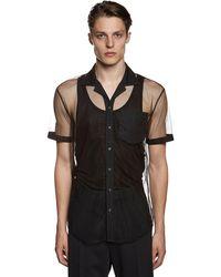 DSquared² Прозрачная Рубашка Из Нейлона - Черный