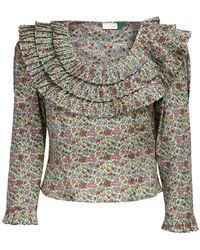 RIXO London Рубашка Из Хлопка С Принтом - Многоцветный