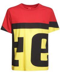 Ferrari Logo Print Cotton T-shirt - Yellow