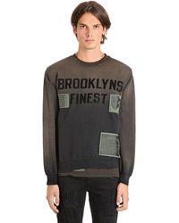 """MadeWorn Sweatshirt Aus Baumwolle """"brooklyns Finest"""" - Schwarz"""