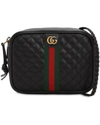 Gucci Borsa Mini In Pelle Matelassé - Nero