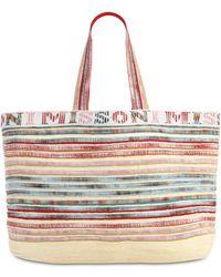 Missoni Große Reisetasche mit Streifen - Mehrfarbig