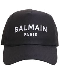 Balmain コットンツイルキャップ - ブルー