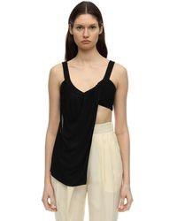 Proenza Schouler - Draped Matte Jersey Sleeveless Top - Lyst