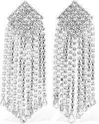 Alessandra Rich Crystal Cascade Clip-on Earrings - Mehrfarbig