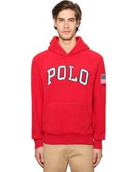 Polo Ralph Lauren Hoodie Aus Technofleece Mit Logo - Rot