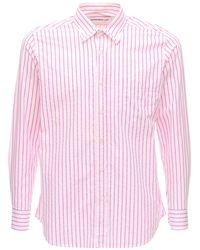 Department 5 Striped Cotton Poplin Shirt - Pink