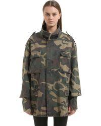 Yeezy Oversized Camouflage Canvas Field Jacket - Green