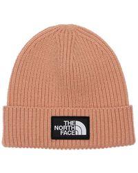 The North Face Logo Acrylic Blend Knit Cuffed Beanie - Multicolour
