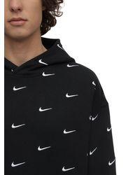 Nike Hoodie Aus Fleece Mit Swoosh-logo - Schwarz