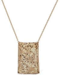 Paco Rabanne Large Chainmail Pouch Necklace - Metallic