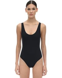 Kiki de Montparnasse Lace-up Lycra One Piece Swimsuit - Black