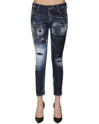 "DSquared² - Jeans Aus Denim Mit Rissen ""cool Girl"" - Lyst"