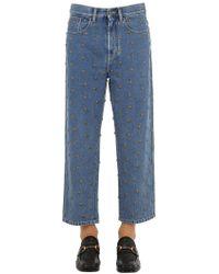 Gucci - Jeans Mit Logo Und Nieten - Lyst