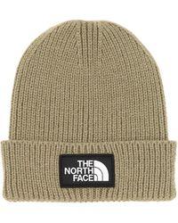 The North Face Logo Box Cuffed Acrylic Blend Beanie - Green