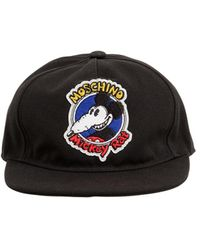 Moschino Mickeyコットンベースボールキャップ - ブラック