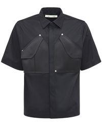 1017 ALYX 9SM Рубашка Из Хлопка С Карманами-карго - Черный