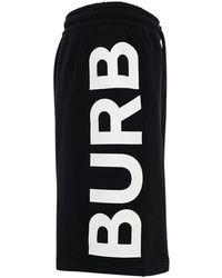 Burberry コットンジャージースウェットハーフパンツ - ブラック