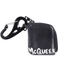Alexander McQueen Кошелек Из Кожи С Принтом - Черный